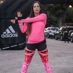 Η Μάντη Περσάκη στο Adidas open run στο Ζάππειο