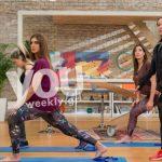 Η Σταματίνα Τσιμτσιλή κάνει γυμναστική στην εγκυμοσύνη της με τη Μάντη μας!